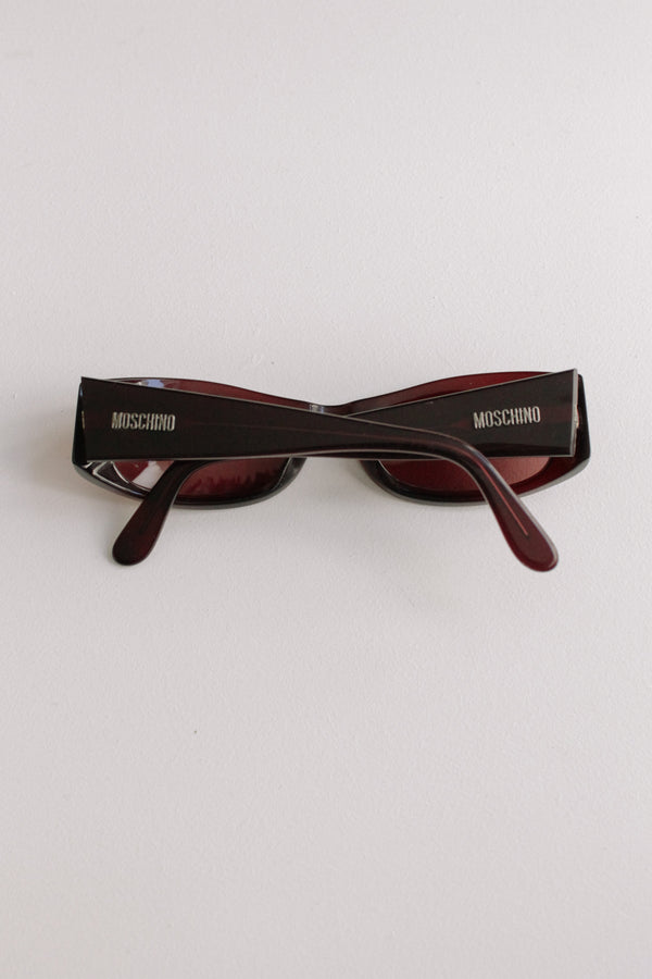 Vintage Moschino Brown Red Sunglasses