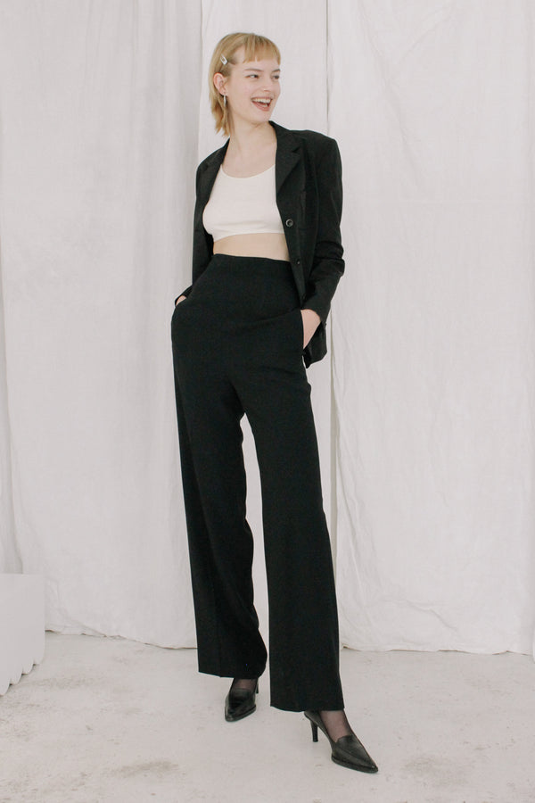 Prada Black High Waisted Trousers