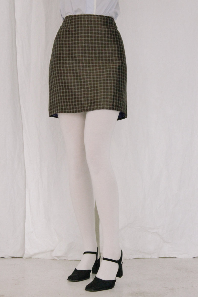 Philosophy Di Alberta Ferretti Brown Checked Skirt