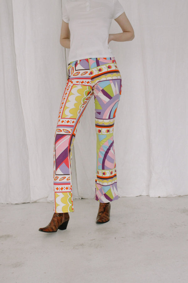 Dolce & Gabbana Multicolor Printed Pants