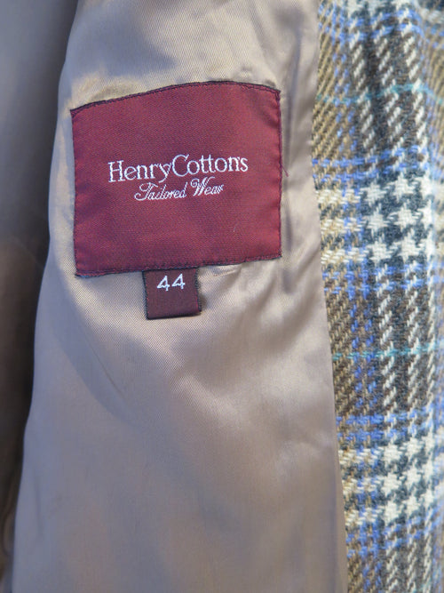 Henry Cottons Check Wool Blazer