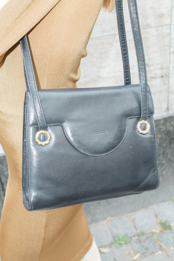 Max Mara Black Leather Bag