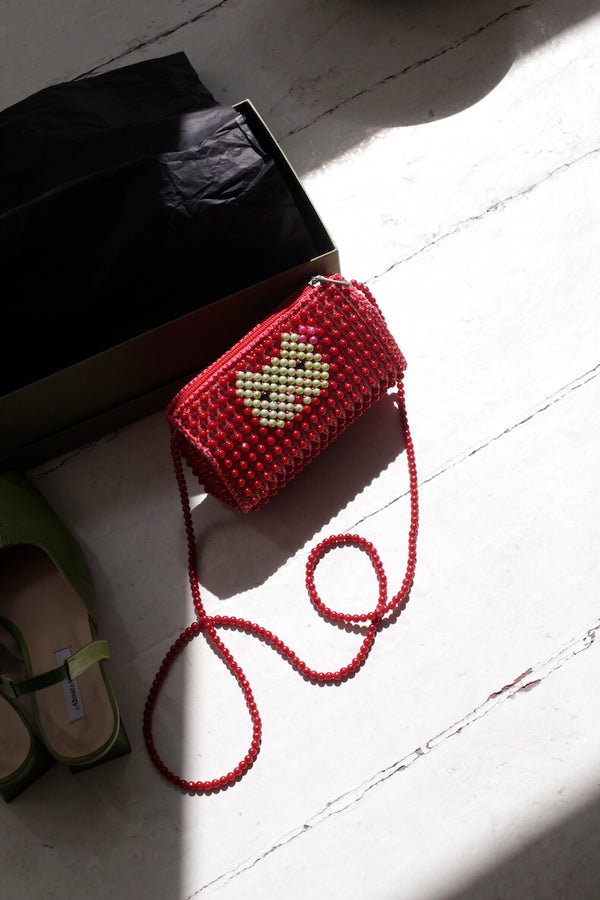 Red Cat Pearl Bag