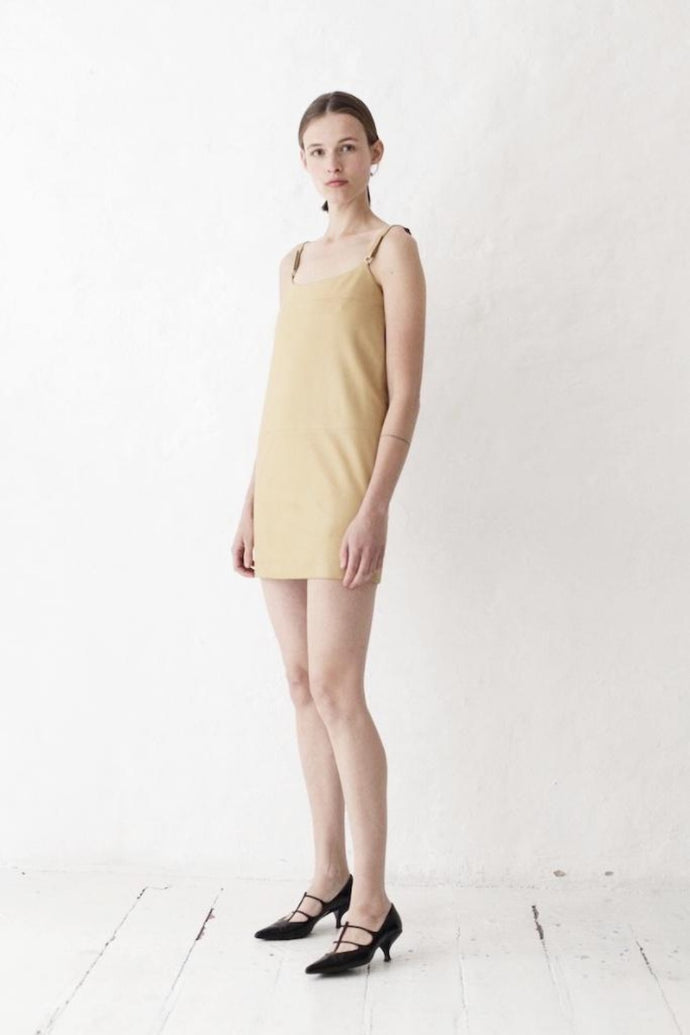 Prada Beige Leather Dress