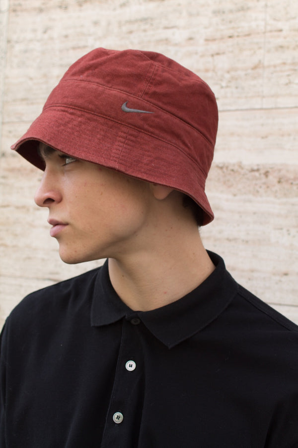 Burgundy Nike Bucket Hat