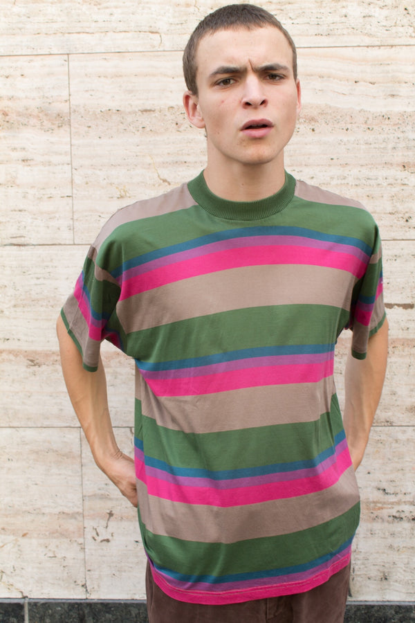 Striped cotton T-shirt.