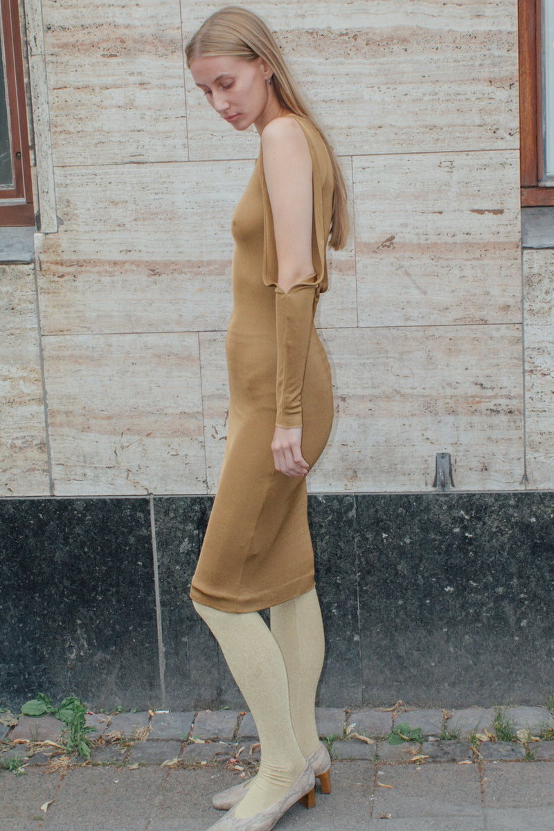 J's EXTĒ Bronze Viscose Dress