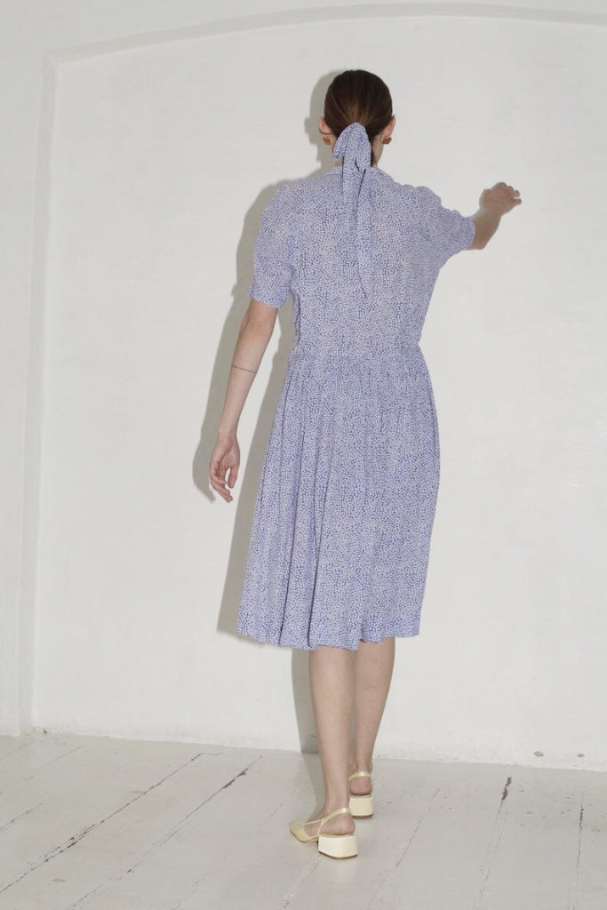 Blue Pattern Summer Dress