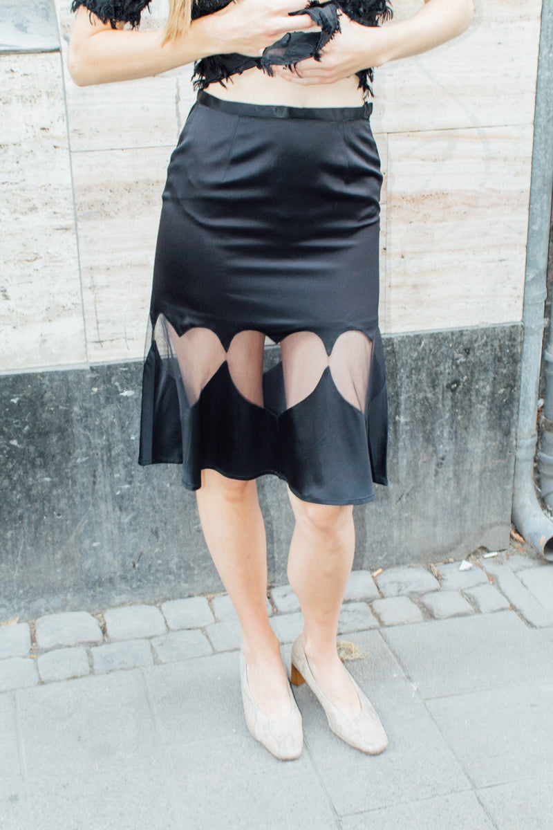 AFFE S.P.A. Black Heart Skirt
