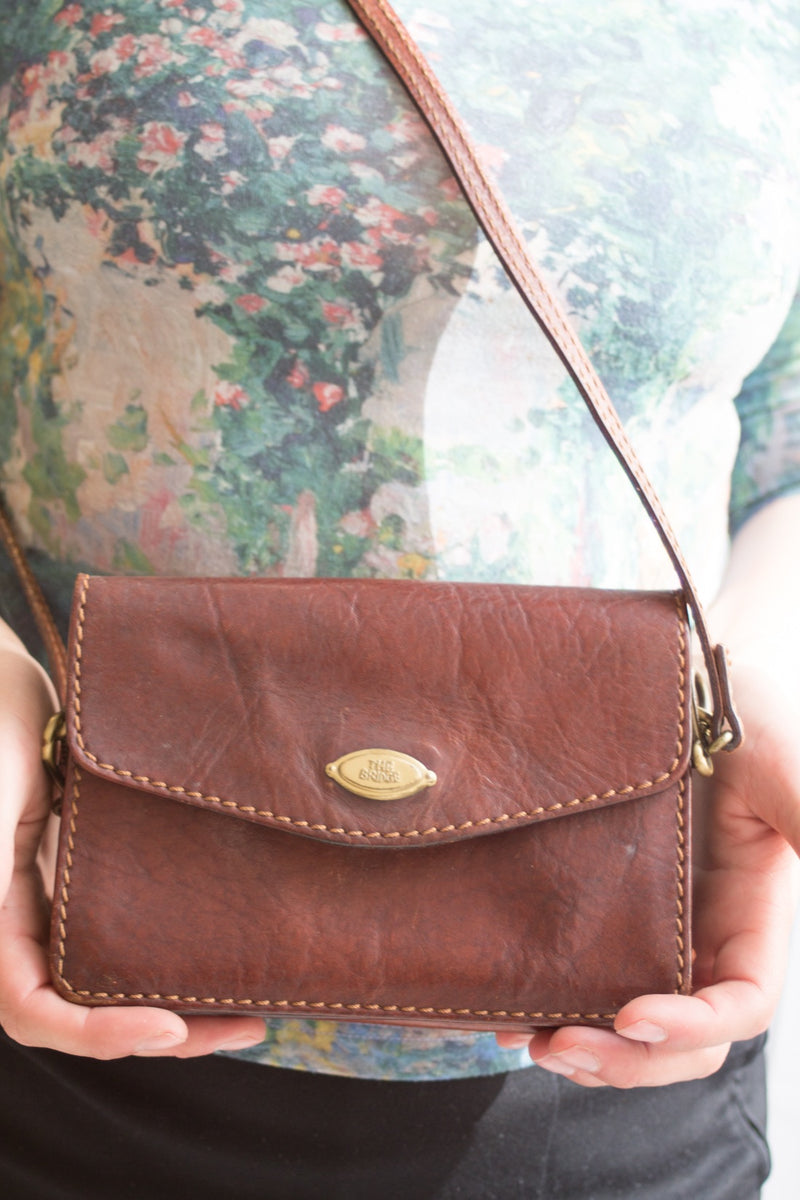 The Bridge Small Brown Leather Bag