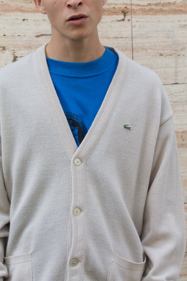 Lacoste Knitted Wool Cardigan