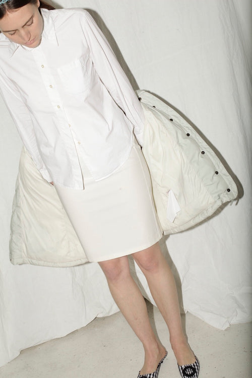 Prada White Pencil Skirt