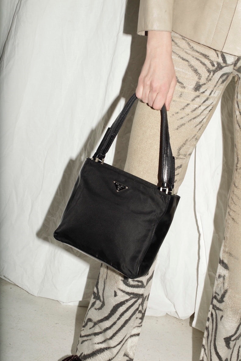 Prada Leather Nylon Handbag