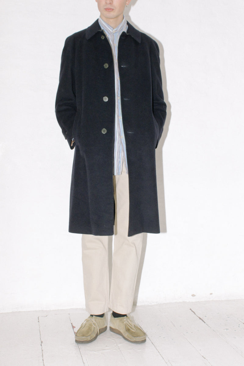 Lanvin Navy Wool Coat