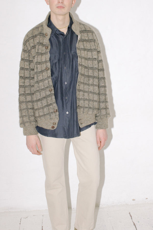Check Wool Tweed Jacket