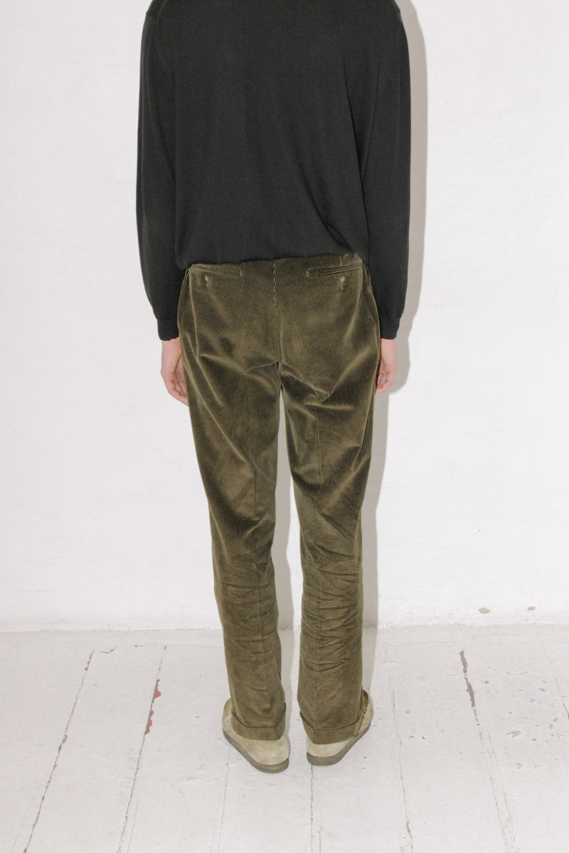 Ravizza Country Green Corduroy Pants