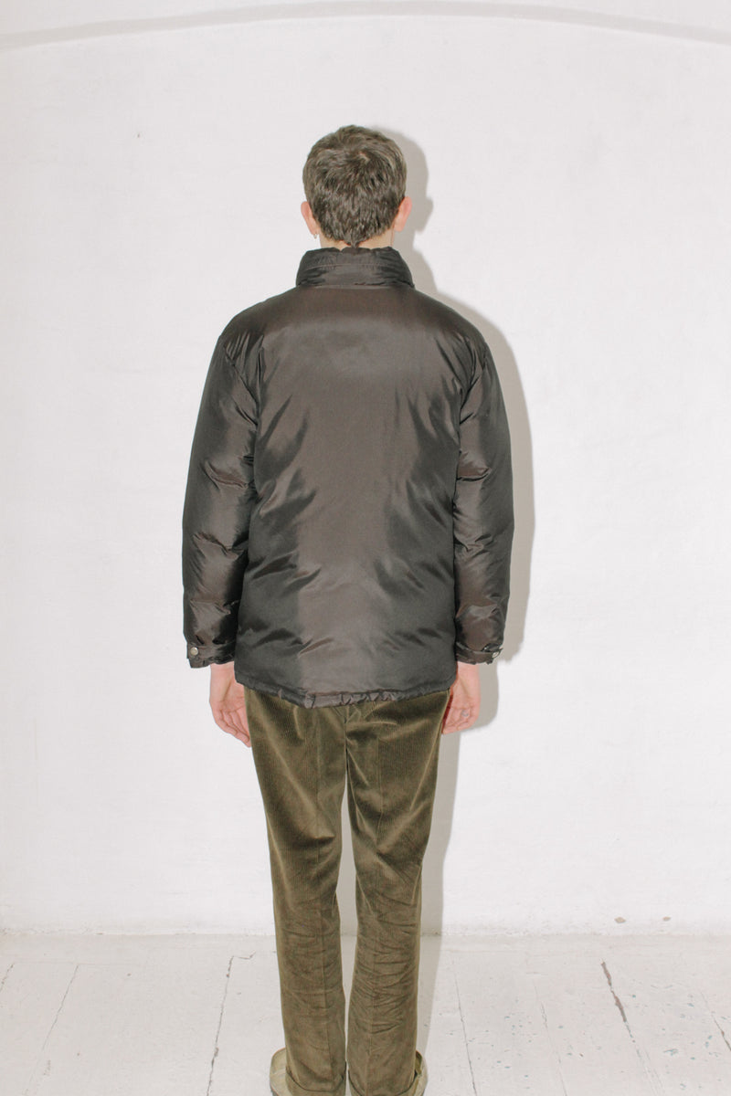 Brown Silk Down Jacket
