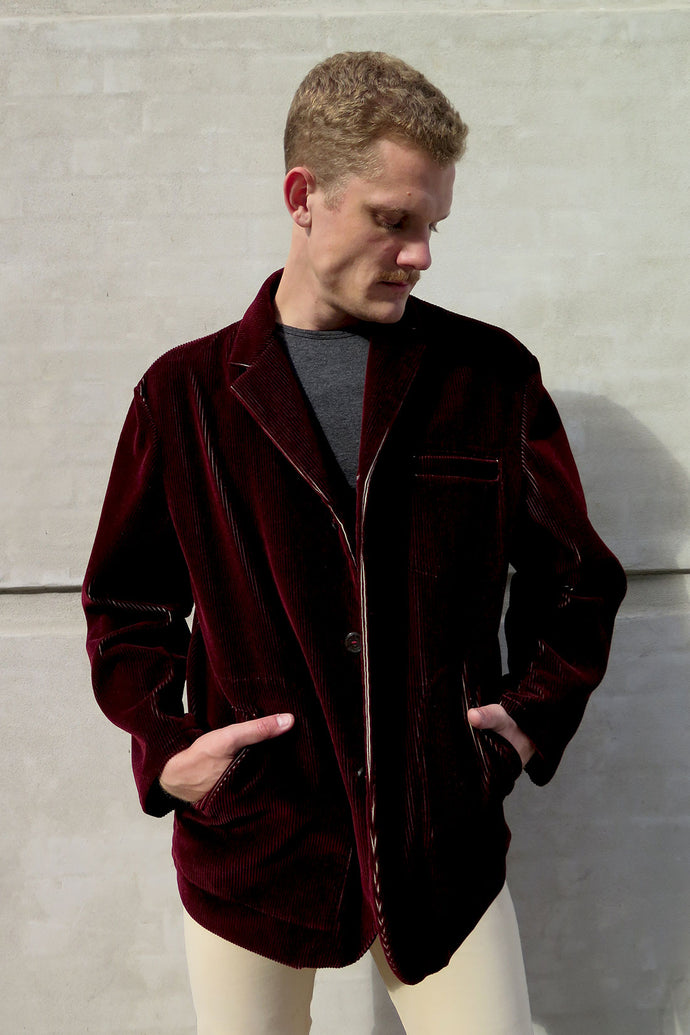 Jean Paul Gaultier Bordeaux Corduroy Jacket - Studio Travel