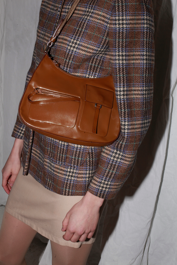 Prada Patent Brown Leather Bag
