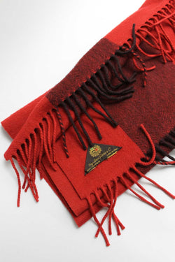 Loro Piana Red Cashmere Striped Scarf