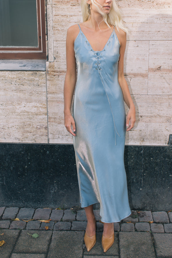 Iridescent Evening Tie Dress