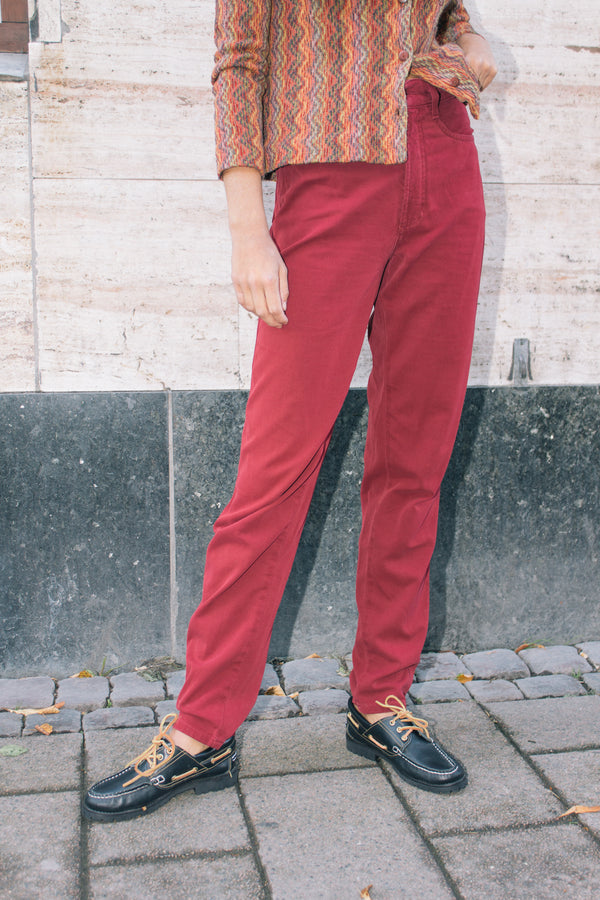 Mac Red Denim Stretch Pants