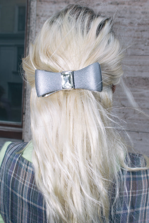 Metal and Crystal Hair Bow
