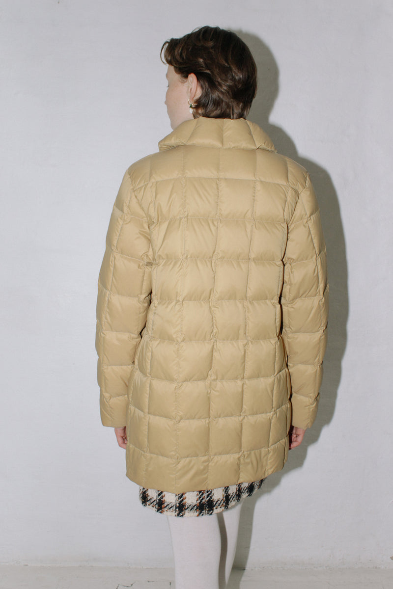Moncler Camel Long Down Jacket