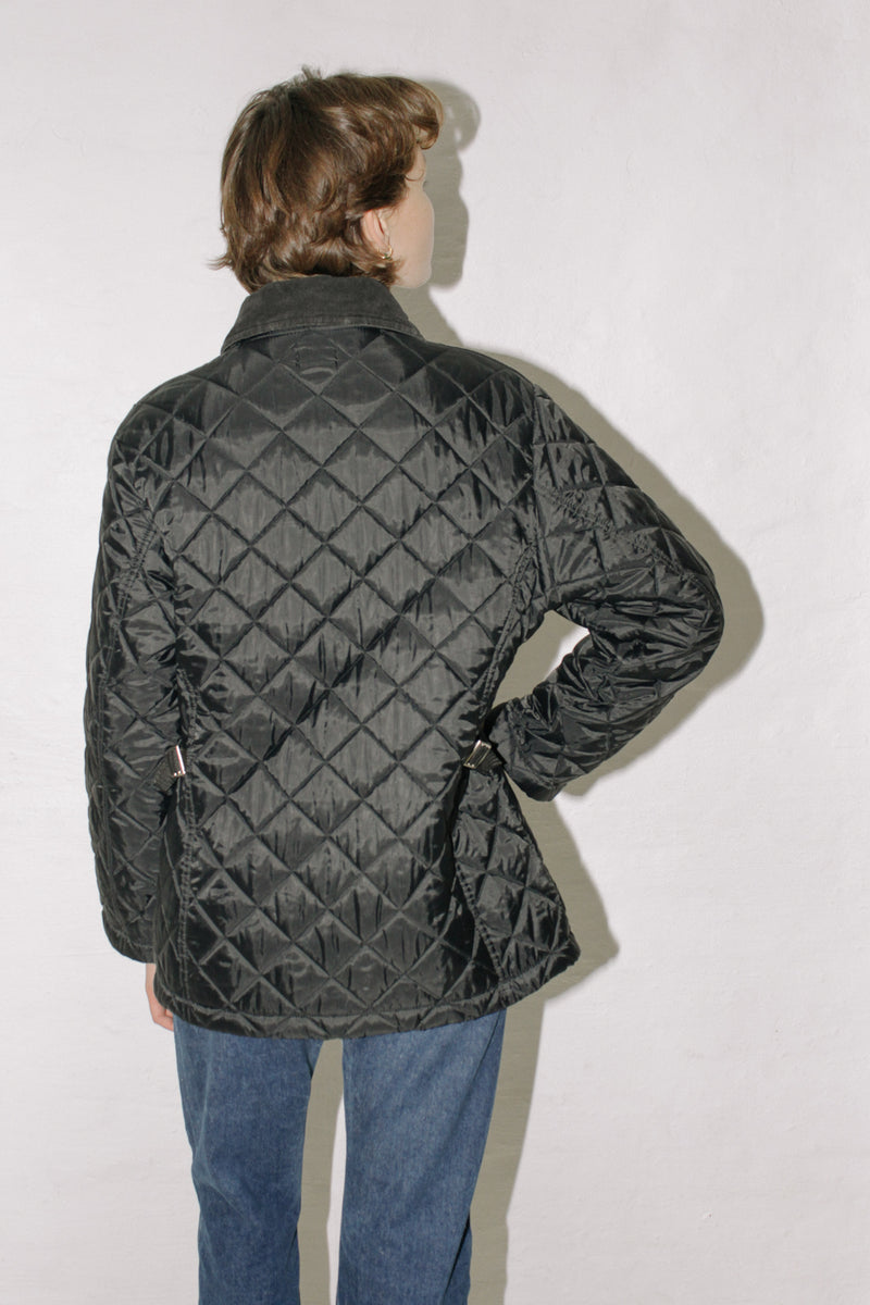 Benetton Black Quilted Jacket