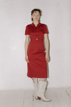 Prada Burgundy Dress