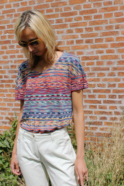 Missoni multi coloured knitted t-shirt