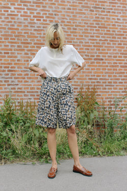 Gucci printed linen long shorts