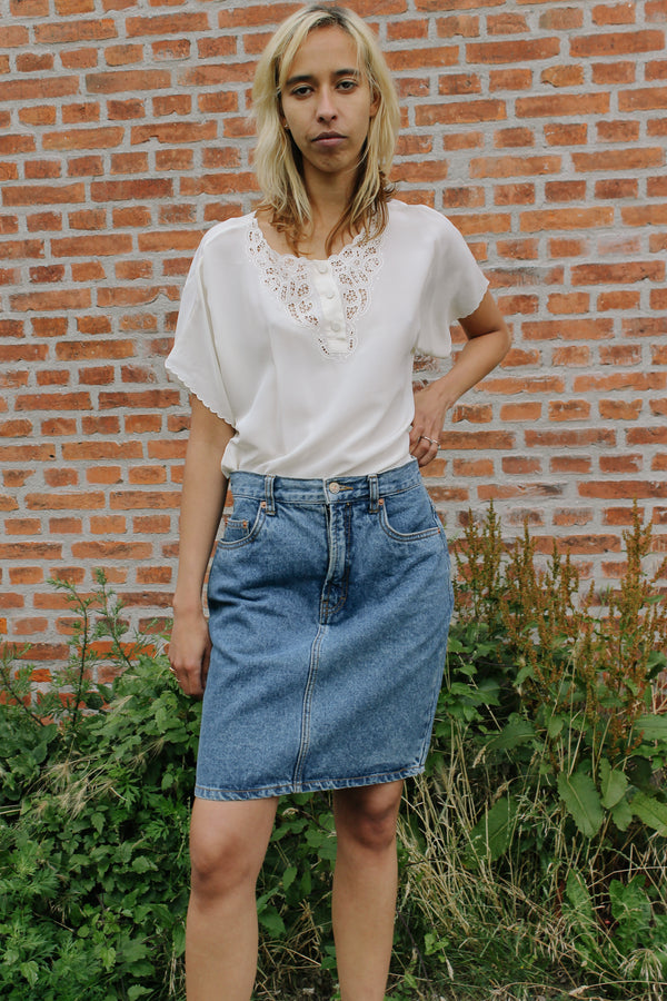 Esprit classic denim skirt