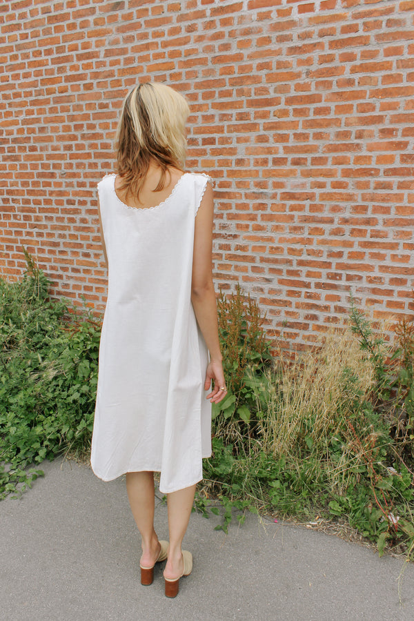 Vintage handmade white night dress