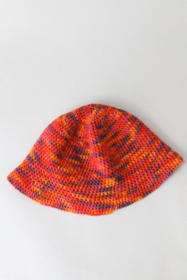 Orange Pink Crochet Hat