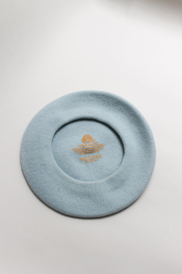 Vintage Light Blue Woolmark Beret