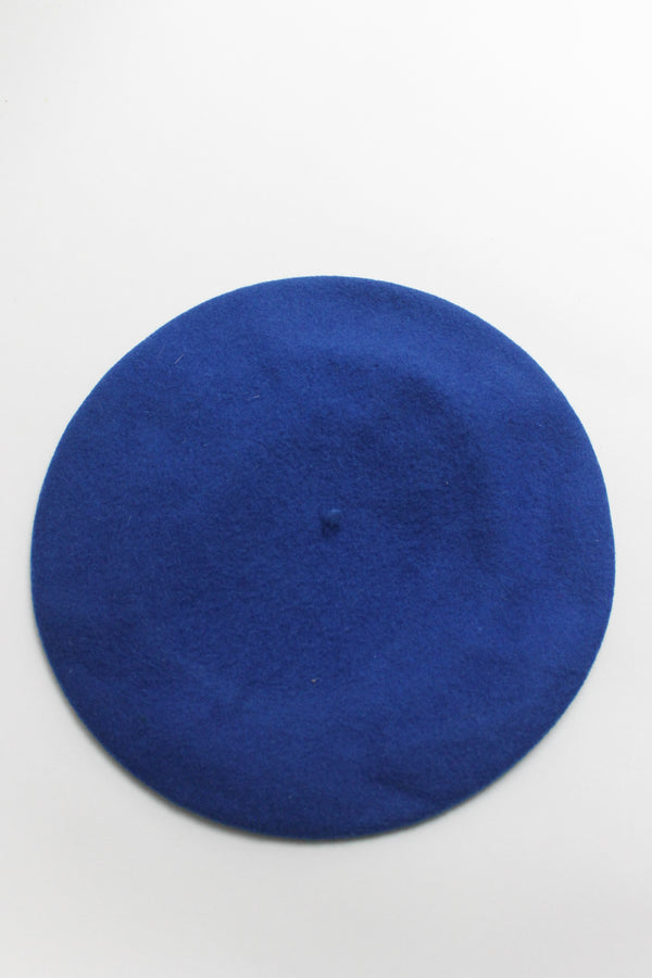 Vintage Royal Blue Wool Beret