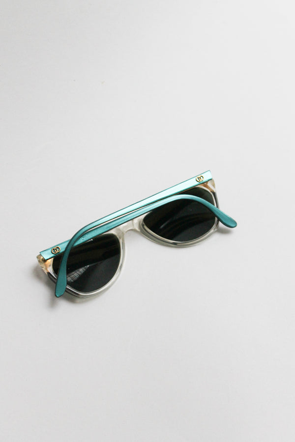 Vintage Gucci Turquoise Sunglasses
