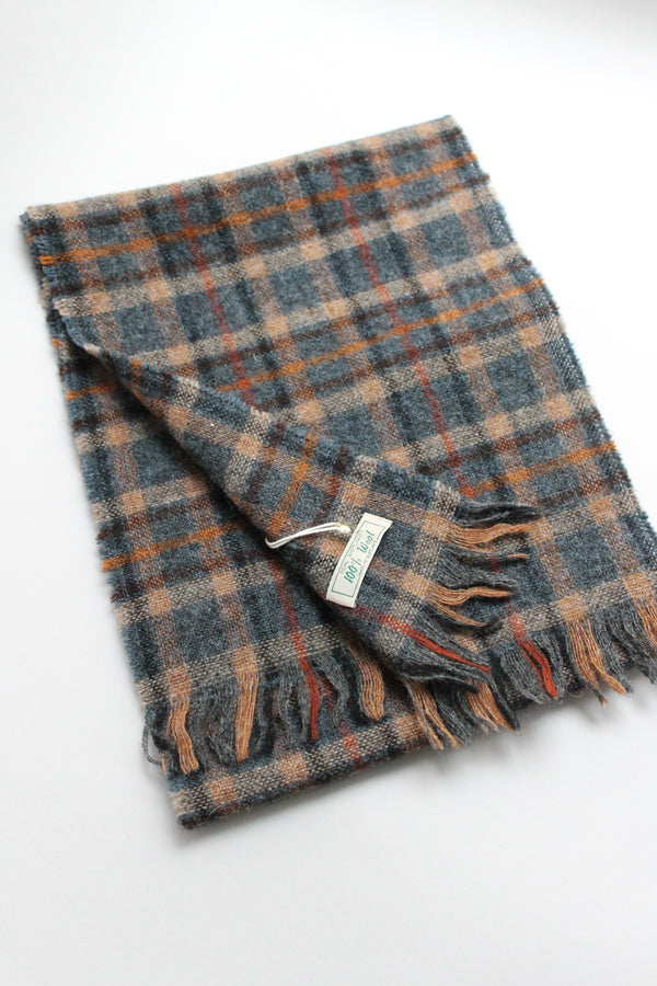 Checked Wool Scarf