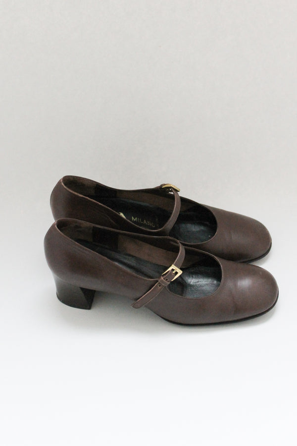 Vintage Prada Brown Mary Jane Pump