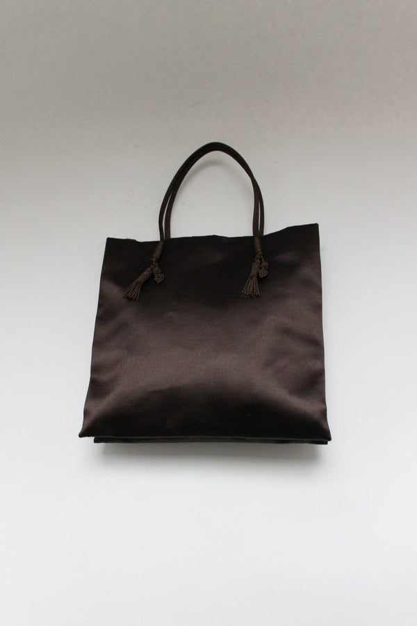 Rare Brown Satin Handbag