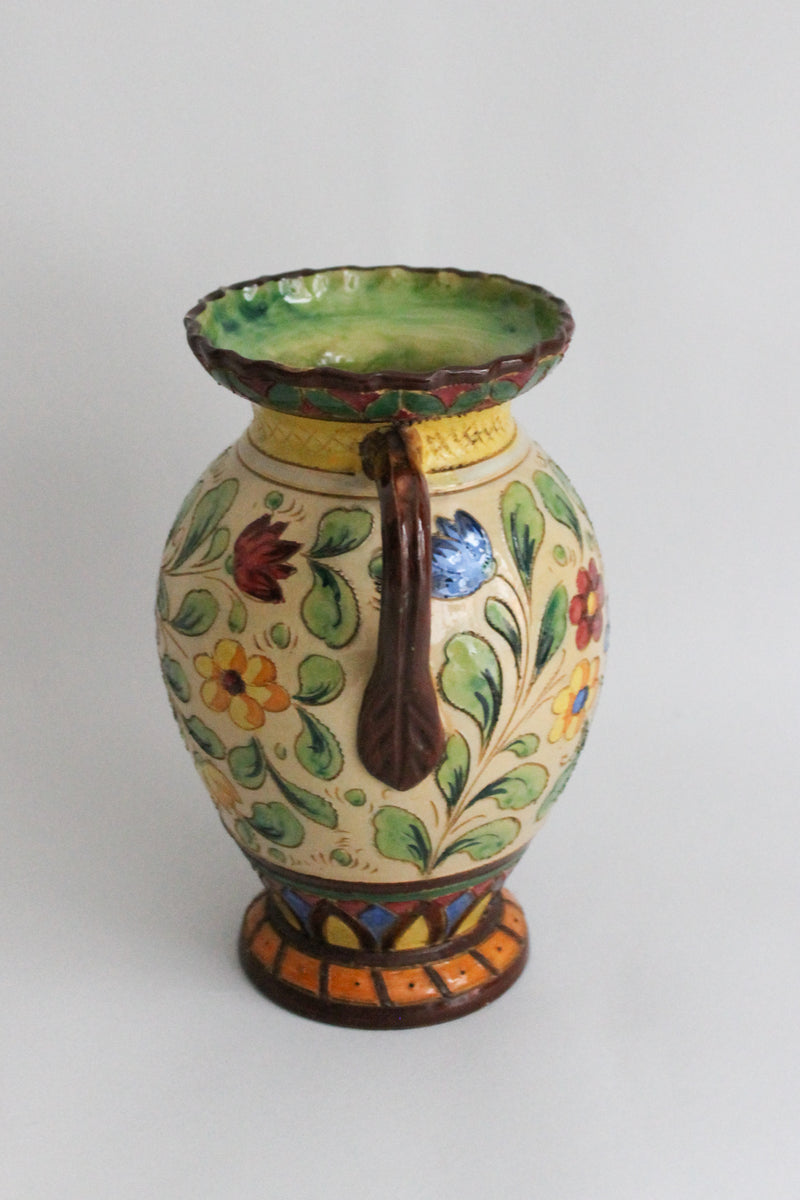 Vintage Brown Flower Vase