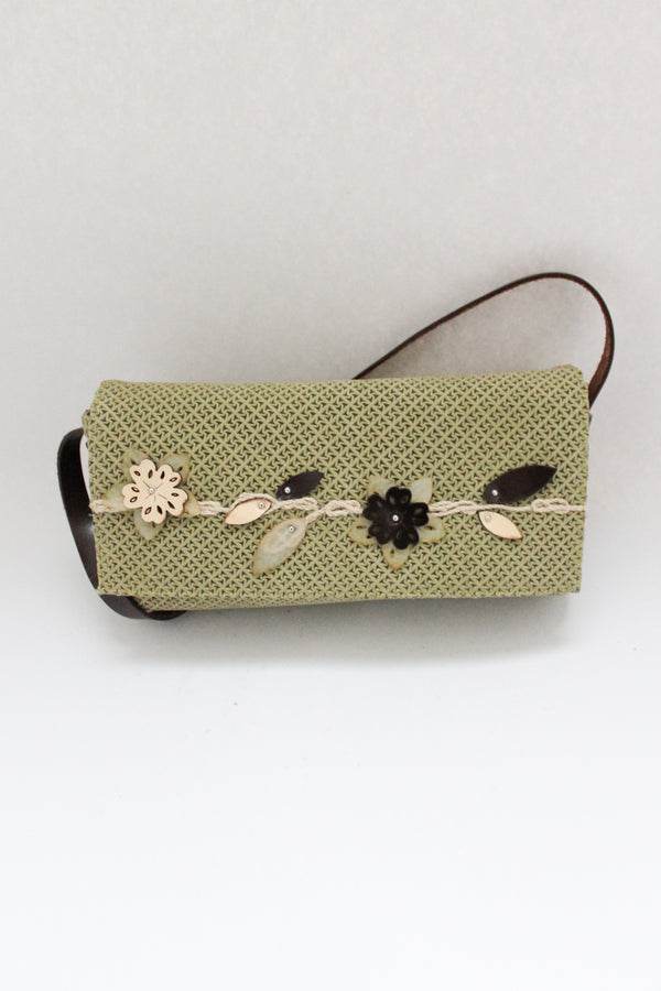 Green Embossed Leather Bag