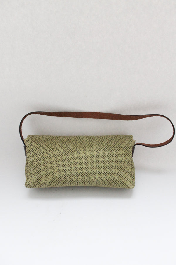 Fendissime Green Embossed Leather Bag