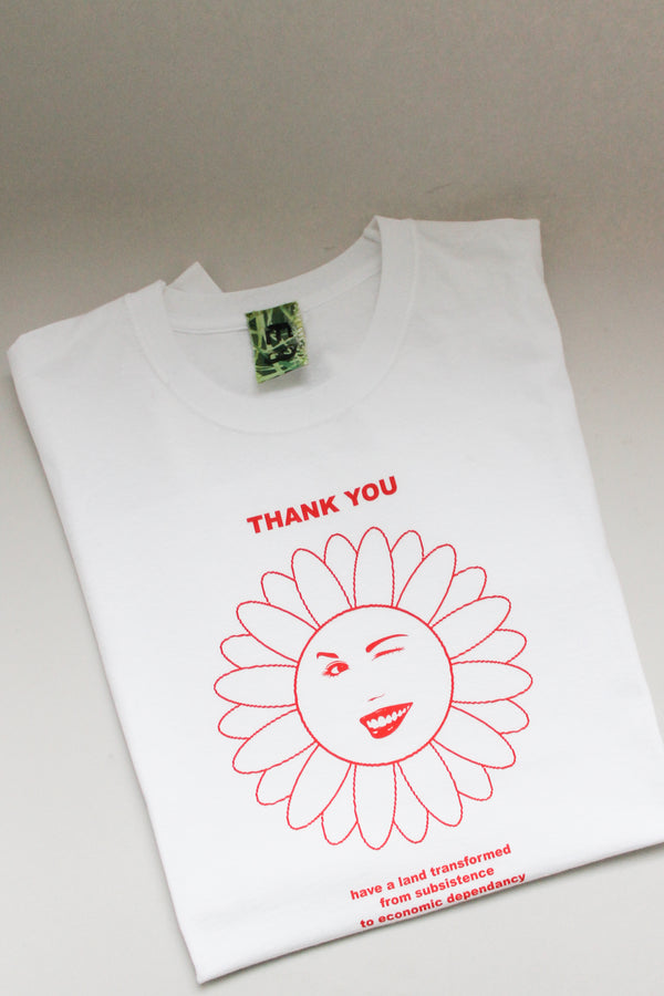 Emilie Bausager Thank You White Unisex T-Shirt