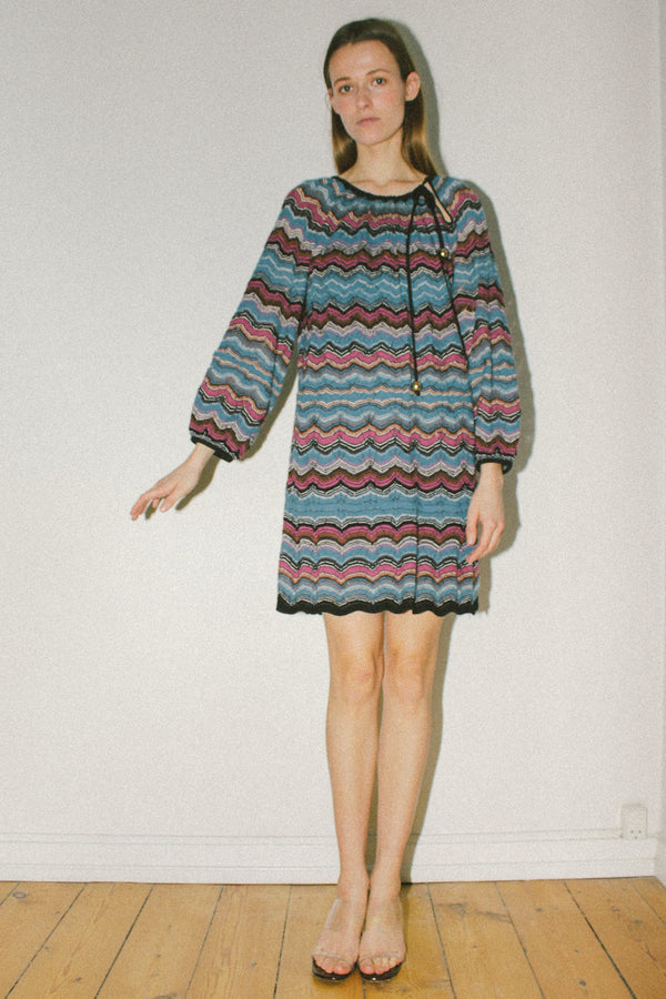 Missoni iconic stripe knitted dress
