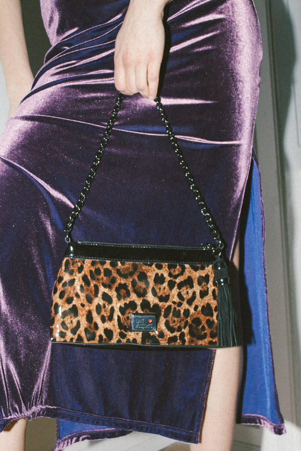Love Moschino leopard print bag
