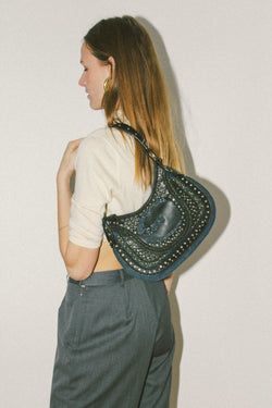 Just Cavailli studded shoulder bag