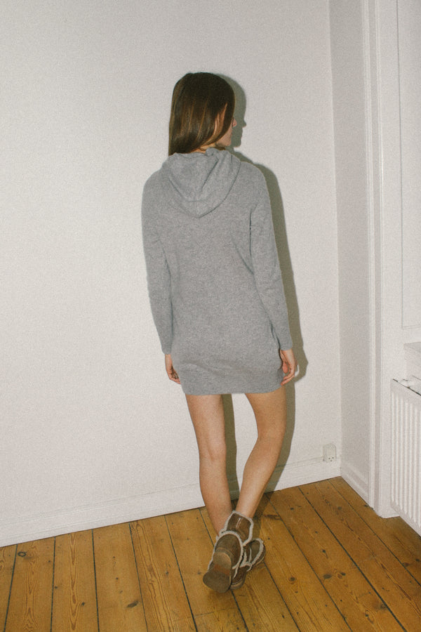 Cashmere hooded jumper dress