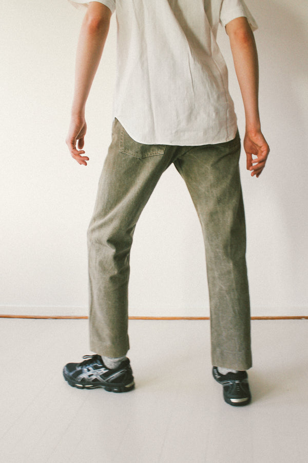 Levi's 501 jeans in grey green wash